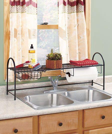 Kitchen Sink Rack Sponge Holder Cleaning Holder Cleaning Drain Rack Organizer Ebay Storage Baskets Paper Towel Holder Shelf Paper