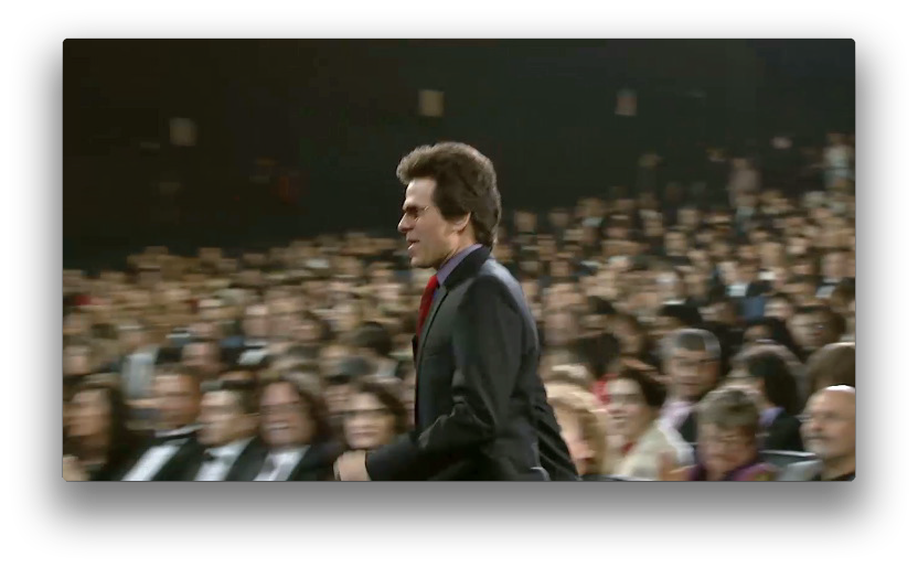 Brent Fischer heading up to the front to receive the GRAMMY!