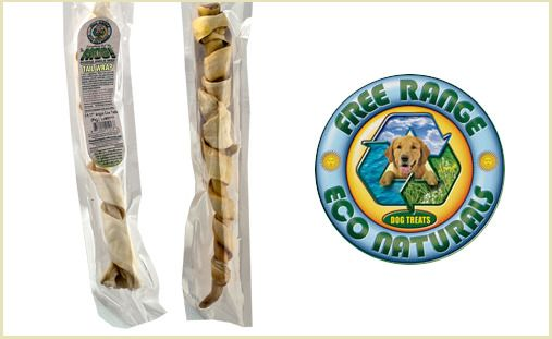 Give your dog a chew he's sure to enjoy: three Cow Tail Wraps from Free Range Eco Naturals. This real bull tail, wrapped in its own skin, is double the fun in taste and texture! These wraps contain only one ingredient and are made from grass-fed, pasture-finished cattle. There are no added hormones, antibiotics, steroids, pesticides, animal by-products, artificial colors, flavors or preservatives! $12