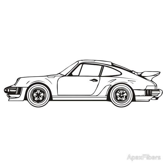 classic sports car outline