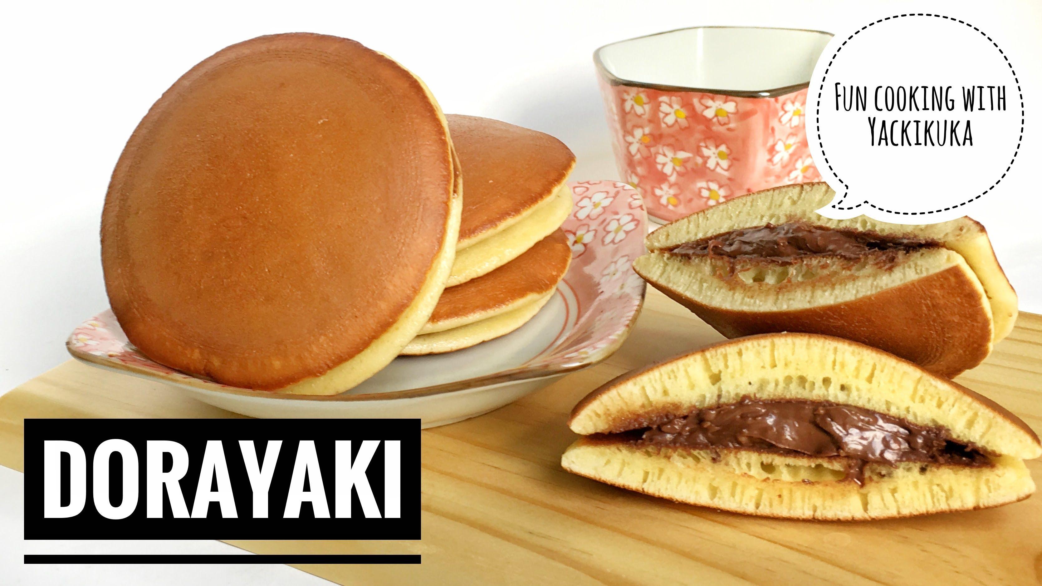 Resep Dorayaki Japanese Pancake Dorayaki Japanischer Pfannkuchen Susse Pfannkuchen Lebensmittel Essen