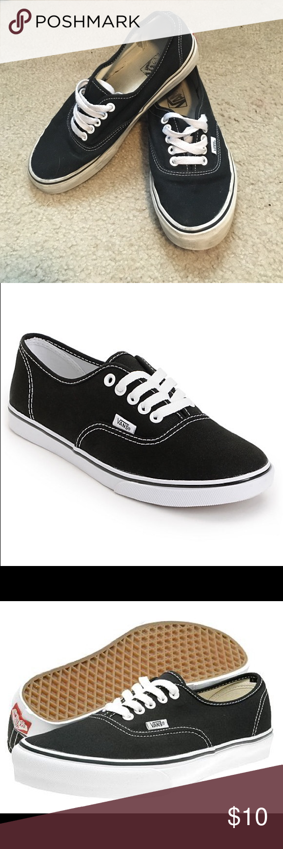 women's vans black classic vans. women's size 8. Vans Shoes Sneakers