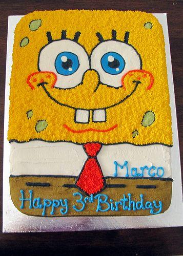 Spongebob Squarepants Spongebob Birthday Cake Spongebob Cake