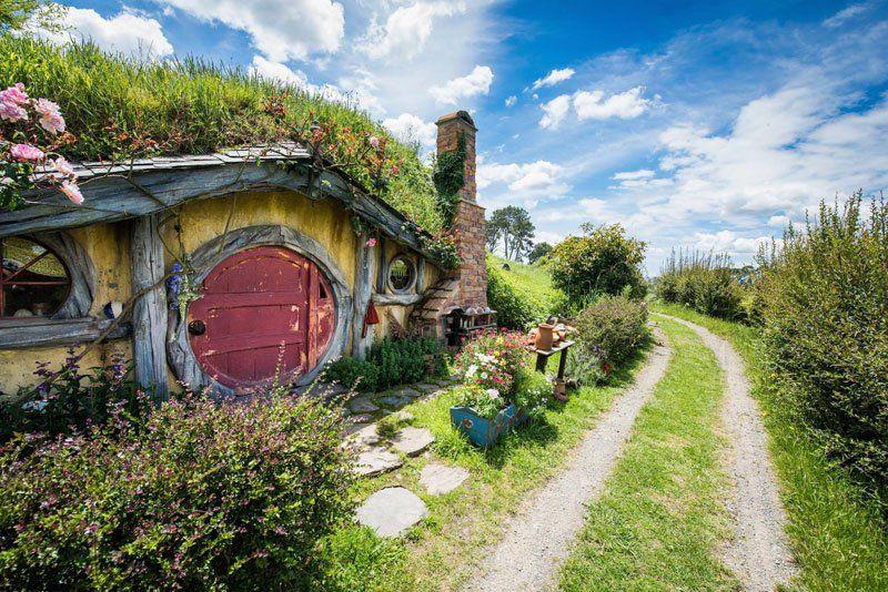 Hobbiton en Nouvelle-Zelande, devenue une attraction permanente