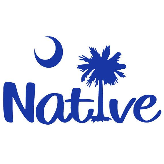 Sc south carolina native palmetto tree vinyl decal sticker