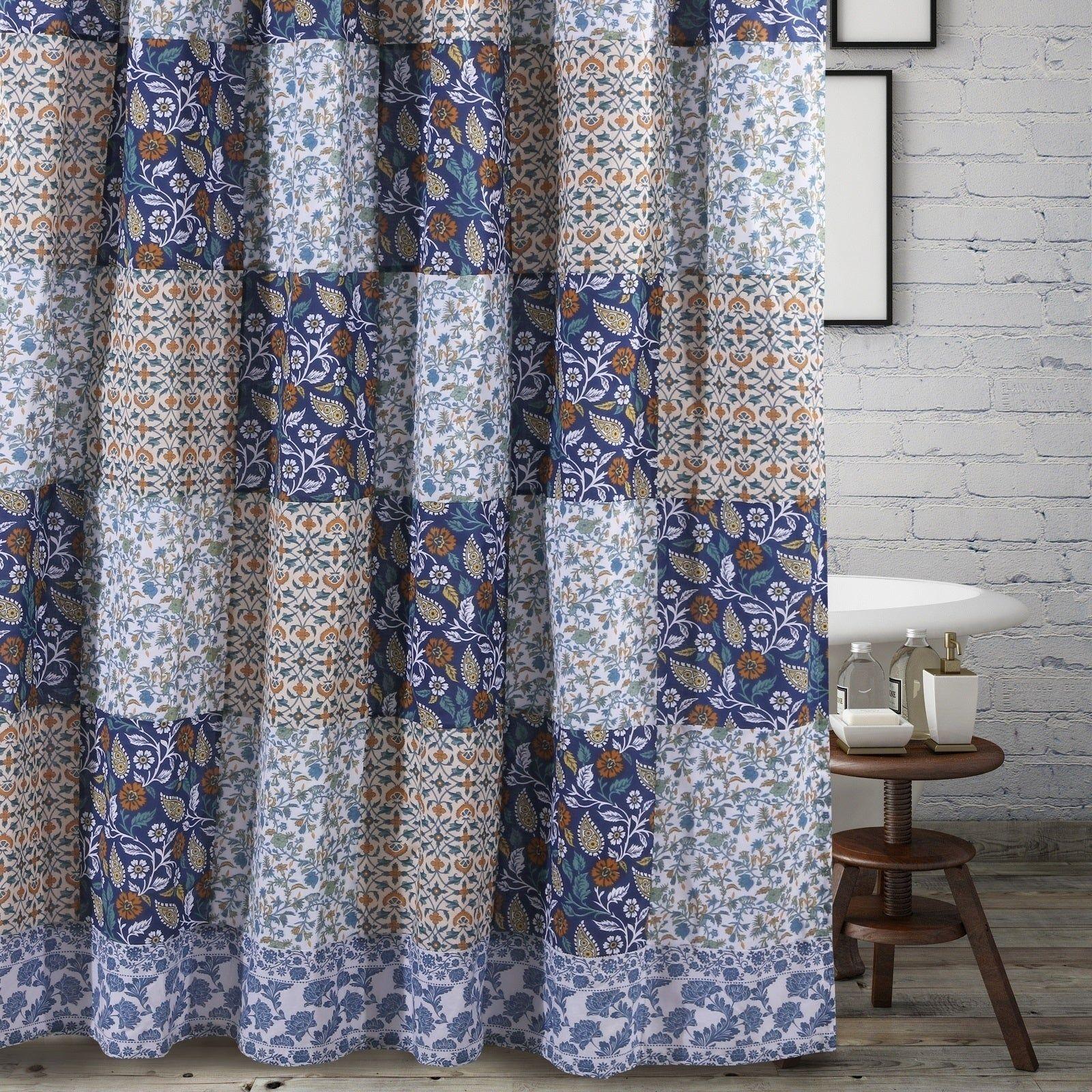 Greenland Home Fashions Pandora Blue Shower Curtain Blue Shower