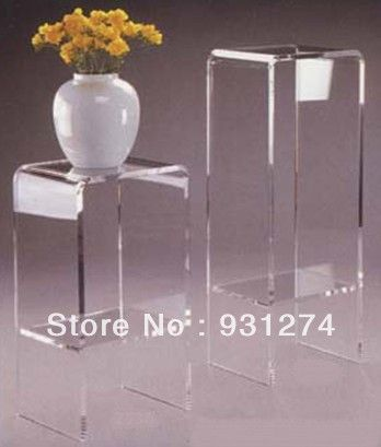 Clear Acrylic Pedestal/Elegant Acrylic Plant Stand/Plexiglass Side Table/Acrylic  Table US