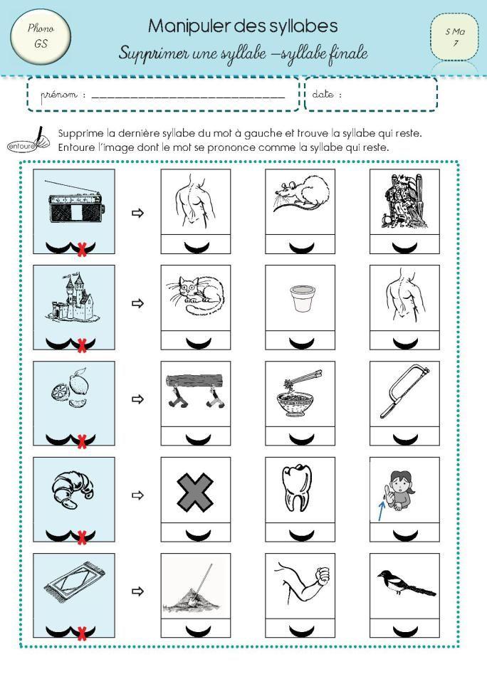 Manipuler les syllabes 3 cole lecture pinterest les - Jeux de tronconneuse qui coupe les arbres ...