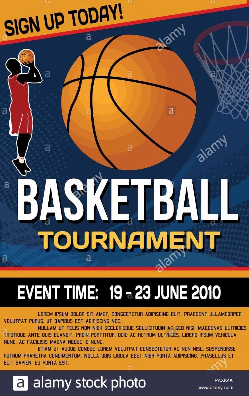 Elegant Basketball Tournament Flyer Or Poster Background Vector