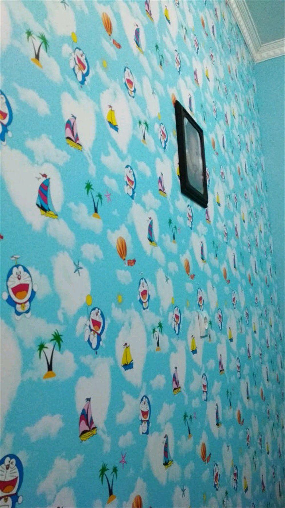 Wallpaper Dinding Doraemon 3d