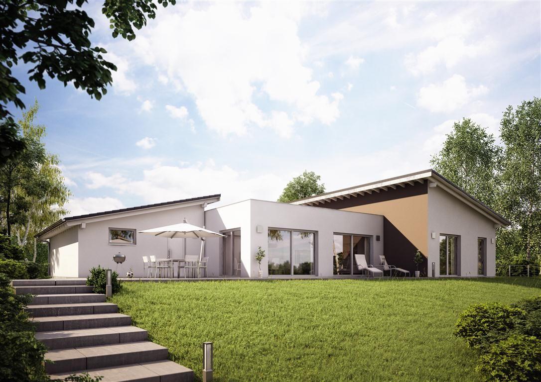 kern haus massivhaus bungalow trio eine exklusive optik bietet der kern haus familienbungalow. Black Bedroom Furniture Sets. Home Design Ideas