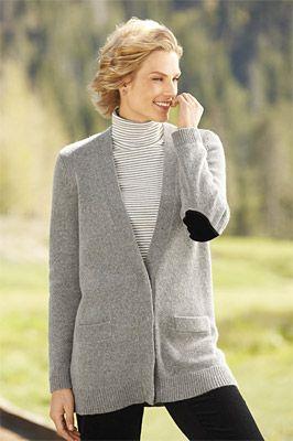 Heathered-Gray Boyfriend Cardigan Sweater #OrvisWomen | The Real ...