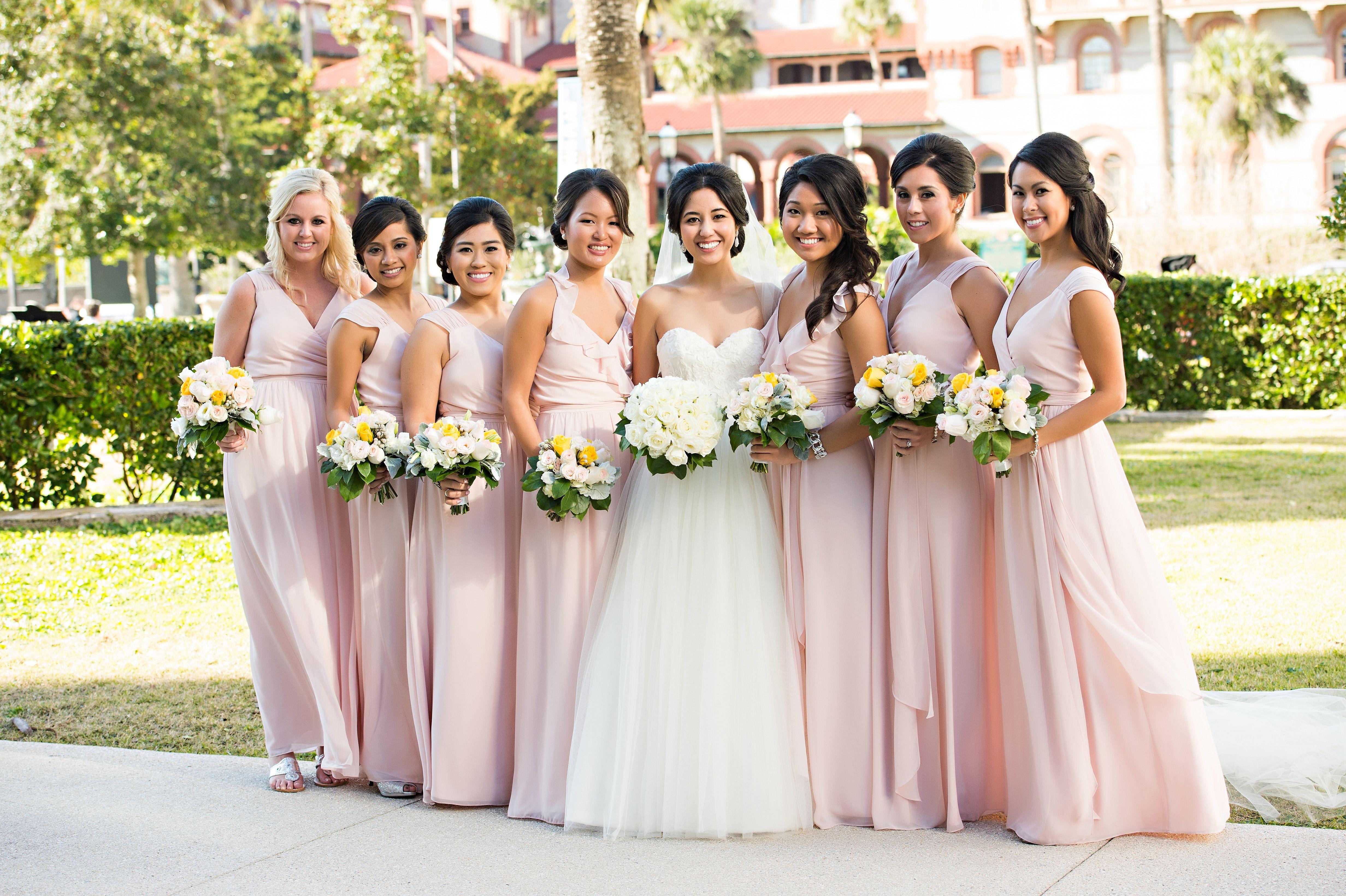 Joanna august blush bridesmaids dresses mariage rose et corail joanna august blush bridesmaids dresses ombrellifo Choice Image