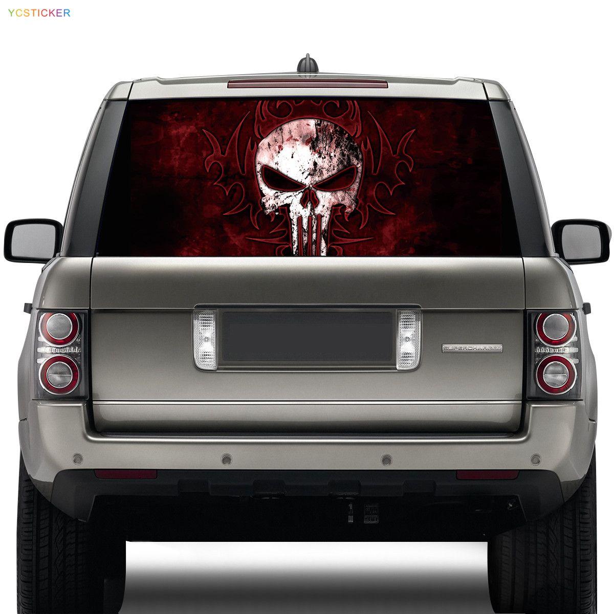 Personalized Skull Head Car Vinyl Wrap Stickermikiycstickercom - Window decals for vehicles personalized