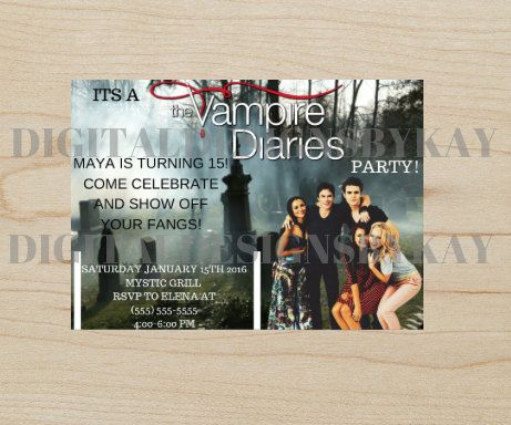 The Vampire Diaries Party The Vampire Diaries Birthday Party The