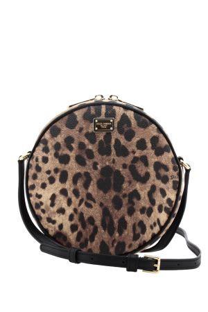 Dolce   Gabbana - borsa tonda a tracolla in crespo leopardato - Tiziana  Fausti Borse In 22d06f65e71