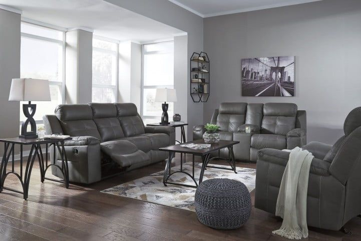 Best Jesolo Dark Gray Reclining Living Room Set With Images 400 x 300