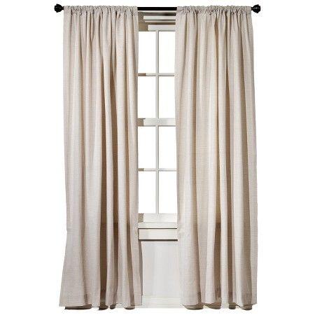 Farrah Curtain Panel Cream 54 X95 Threshold Panel Curtains