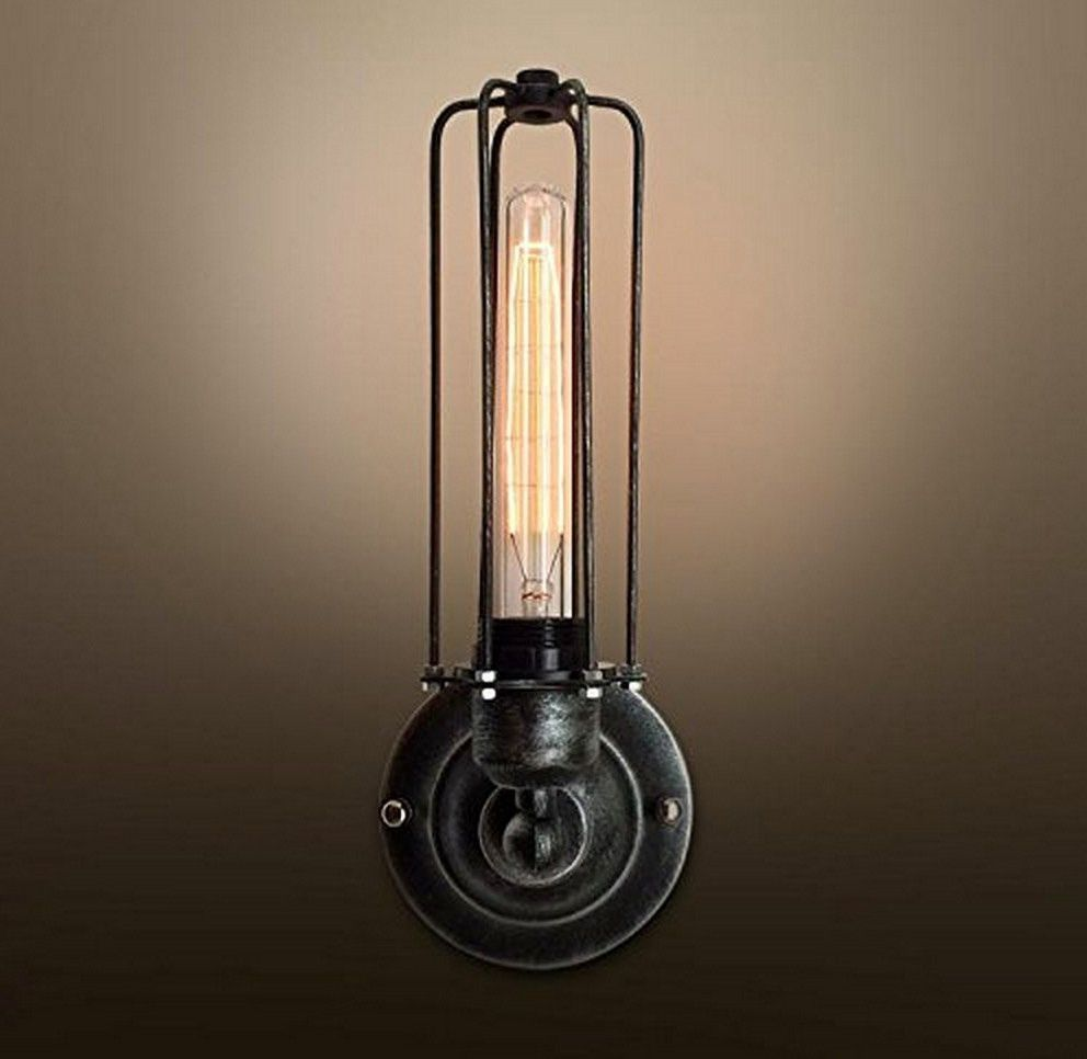 Industrial Big Cage Wall Sconce Vintage Style Dining Room Light Living Kitchen