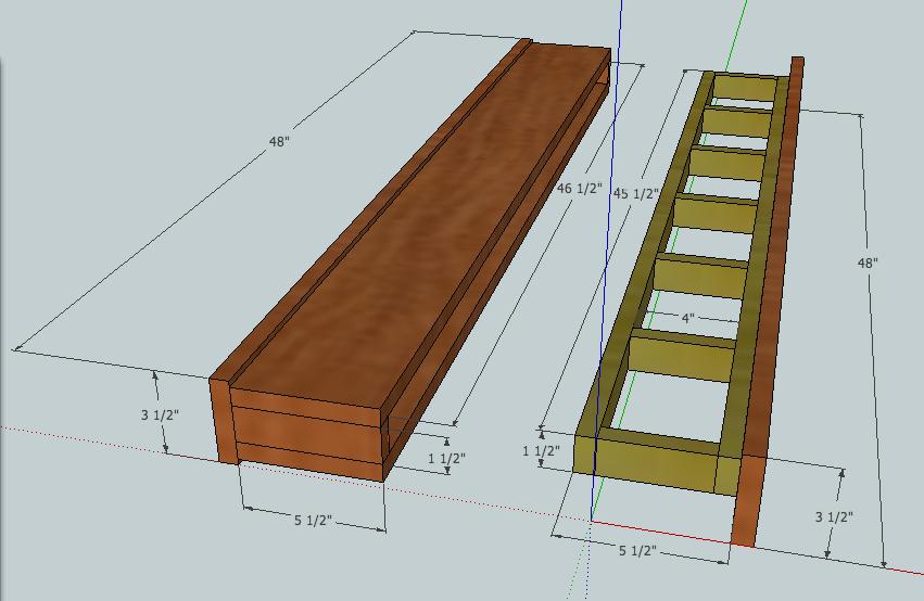 Ana White Build A Barn Beam Floating Shelf Free And