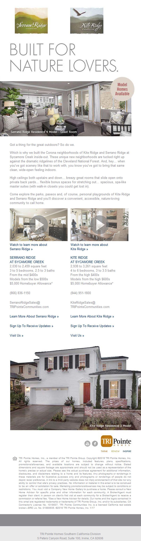 Selling model homes