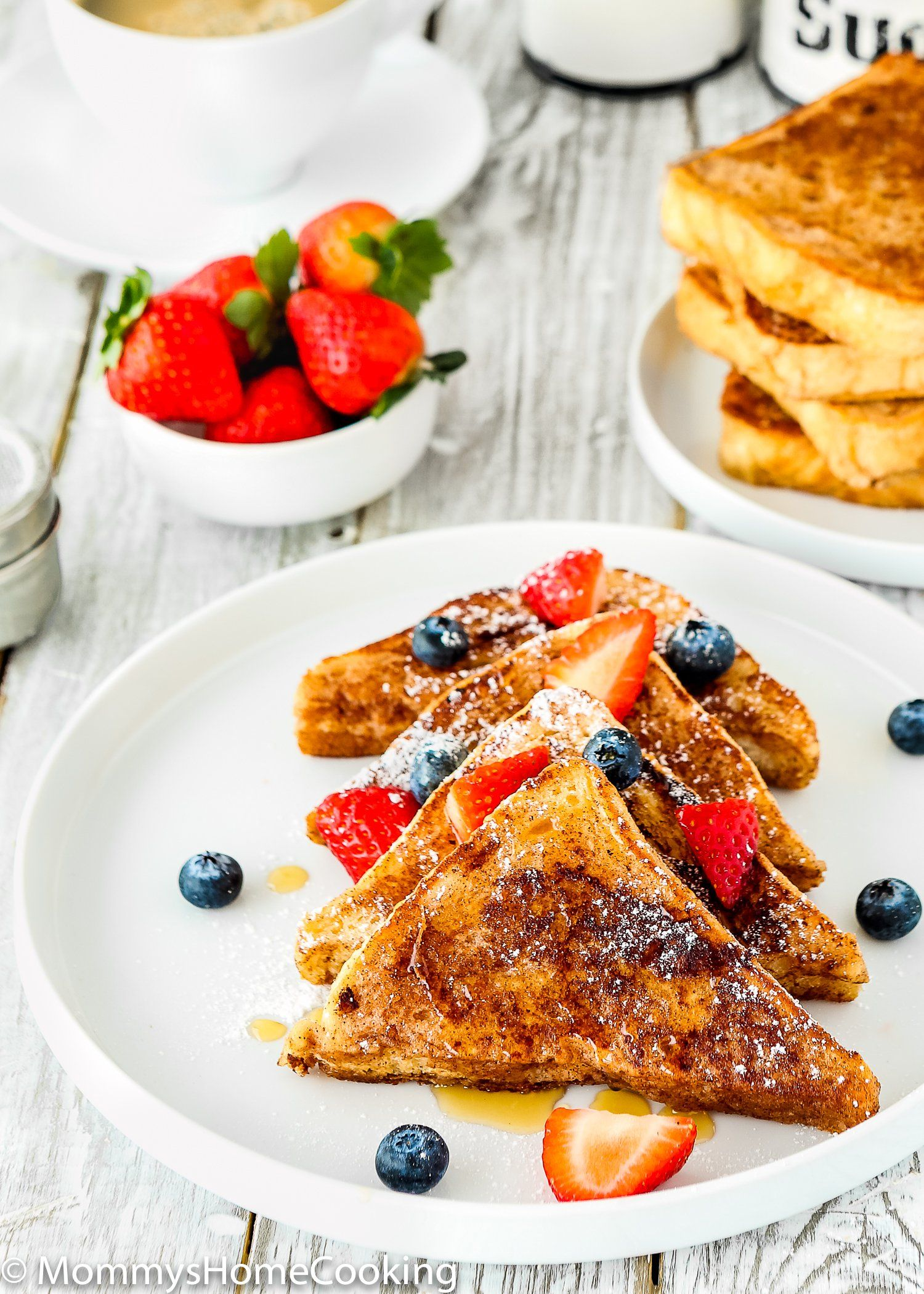 how to make french toast without eggs or milk