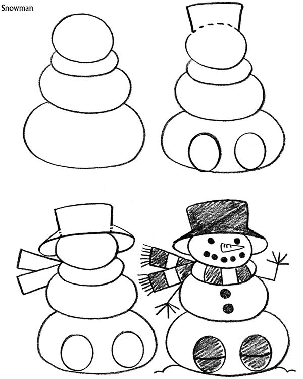 How To Draw Holiday Pictures Easy Christmas Drawings Easy Drawings Christmas Drawing