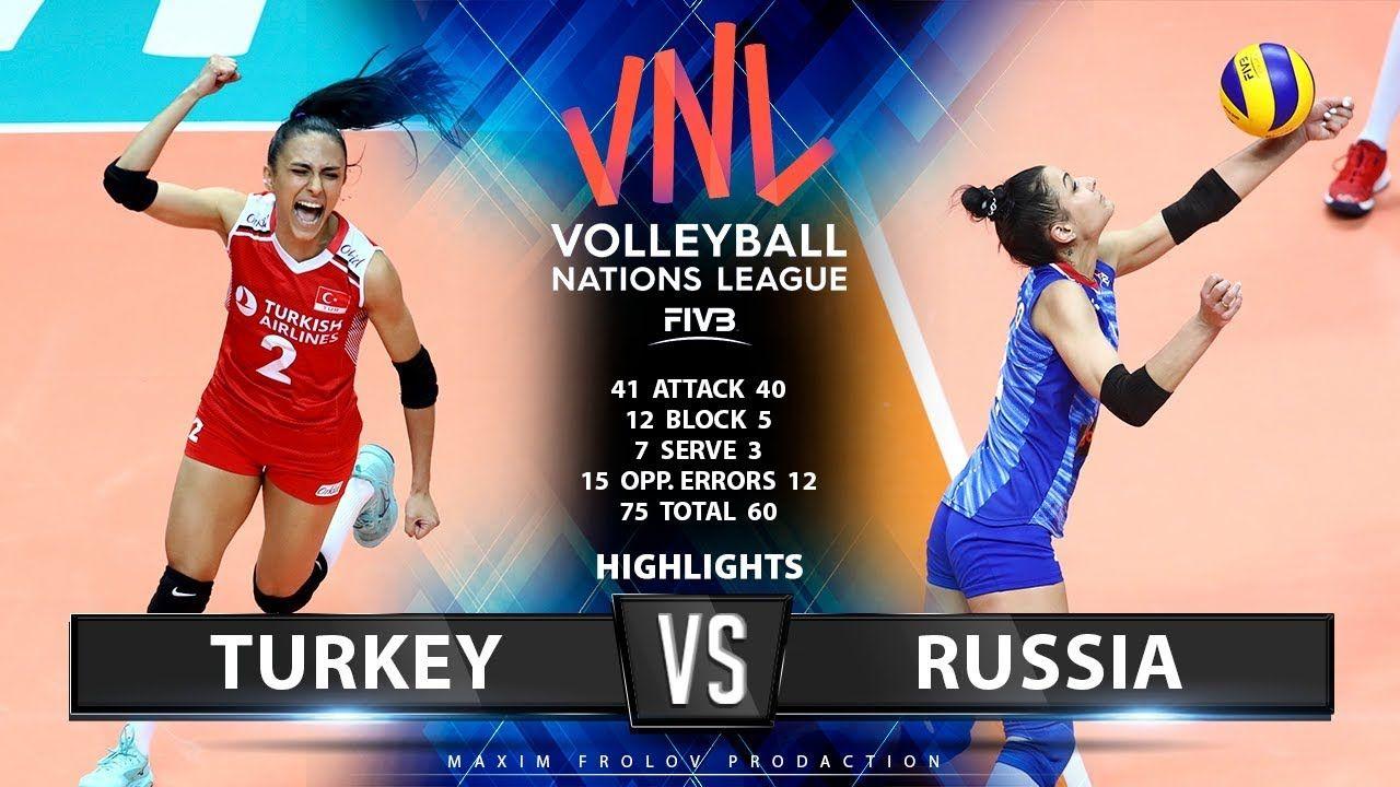 Turkey Vs Russia Highlights Women S Vnl 2019 Russia Volleyball Highlights