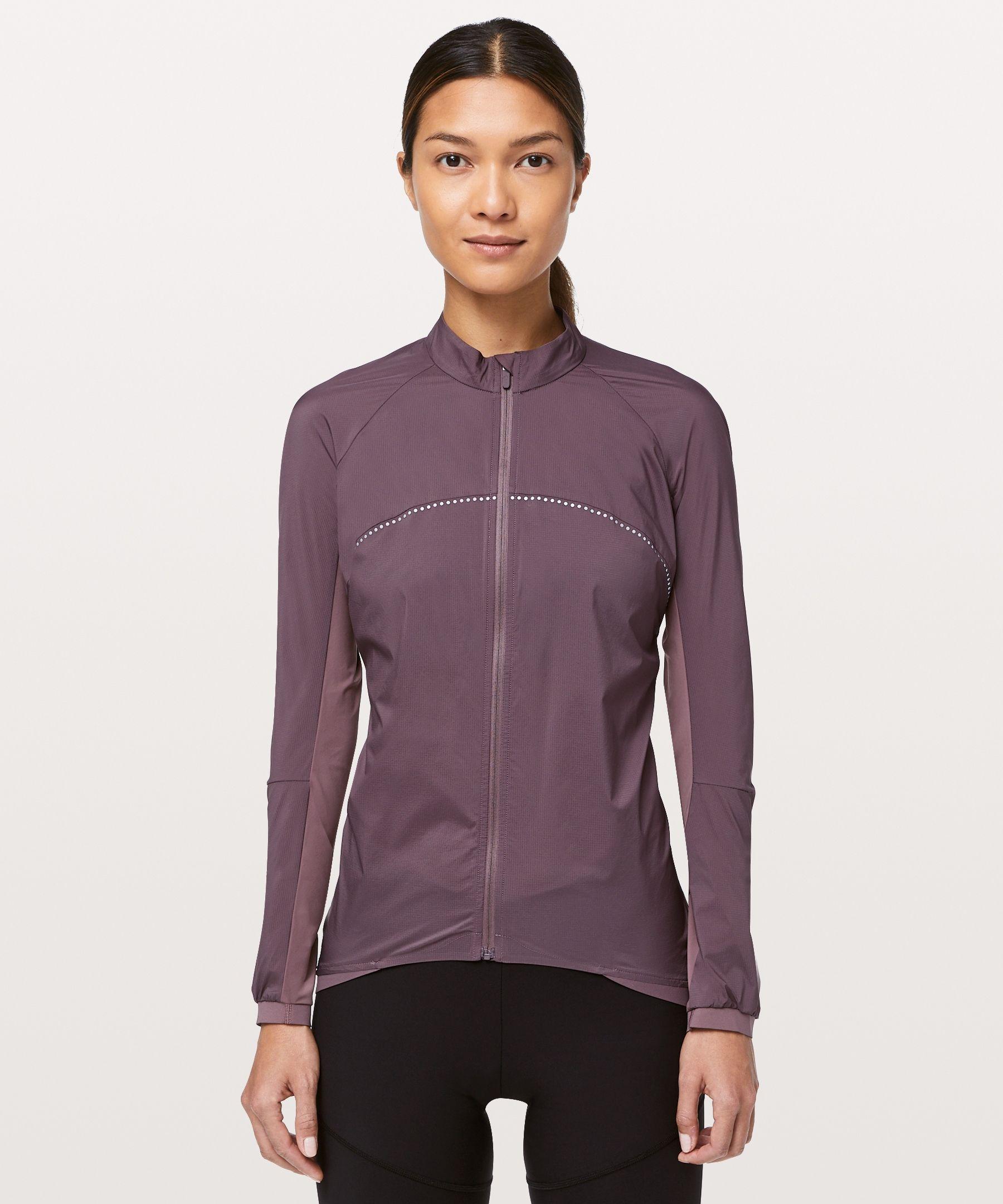 Lululemon Women S City To Summit Cycling Jacket Antique Bark Size Xs Jackets For Women Jackets Long Sleeve Shorts