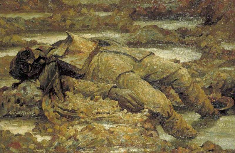 Gassed: 'In arduis fidelis', by Gilbert Rogers, 1919.