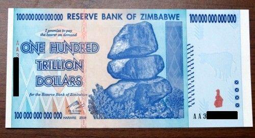 I Own 100 Trillion Zimbabwe Dollars