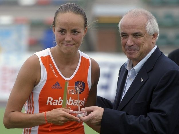 Maartje Paumen — Field Hockey — Netherlands.  Paumen is among the best field hockey players in the world. Along with Marilyn Agliotti, she was on the 2008 Netherlands team that won gold at the Olympics. Paumen was named the 2011 Player of the Year at the Champions Trophy field hockey tournament in Argentina.