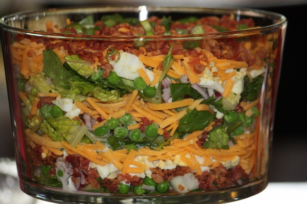 Seven Layer Salad Recipe Only Better Layered Salad Layered Salad Recipes Seven Layer Salad