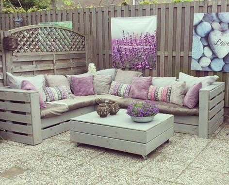 salon de jardin palette | diy decks | Pinterest | Garden sofa ...