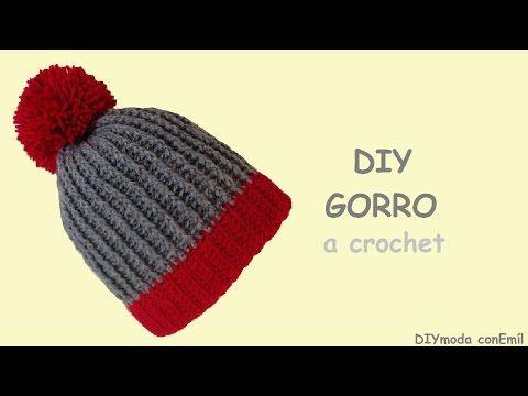 1544c1703 Como tejer gorro con relieve a Crochet o ganchillo - Learn Crochet Beanie  How to - YouTube