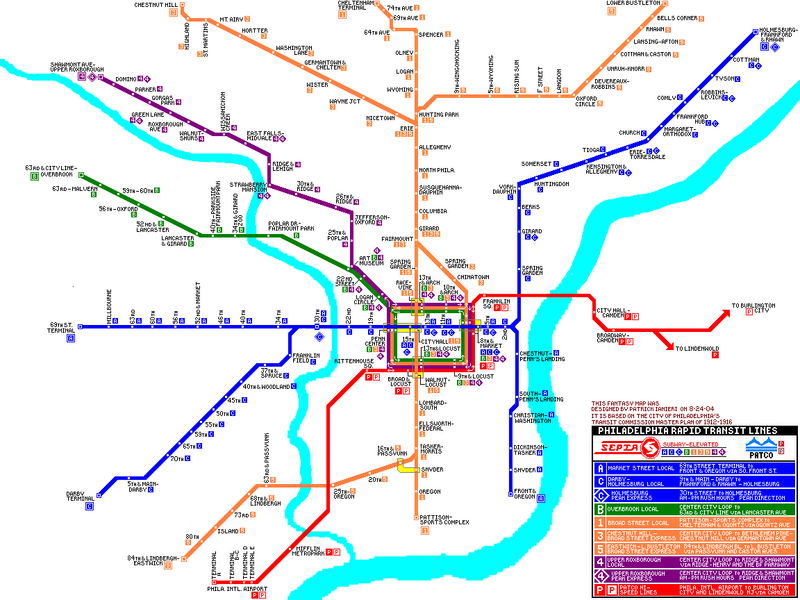 Philly Subway Map