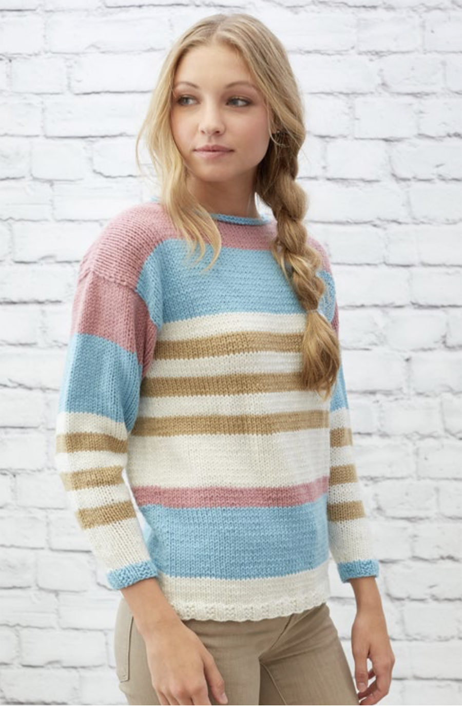 Striped Pullover Knitting Pattern UK
