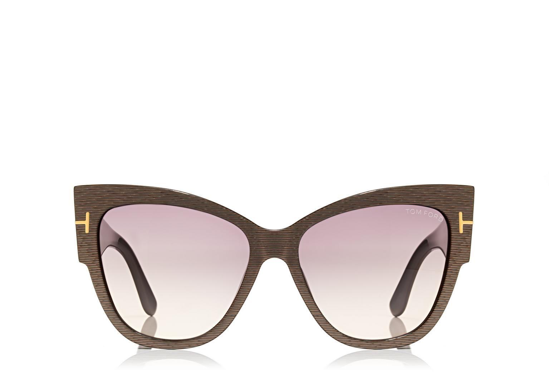 Anoushka sunglasses with flash lenses tom ford eyewear
