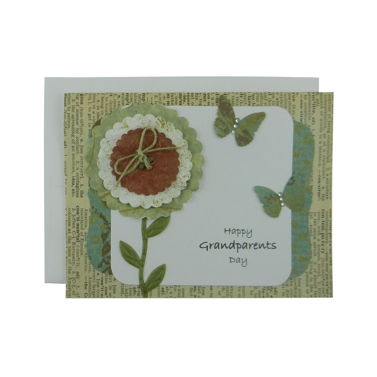 Grandparents Day Card Handmade Greeting Card For Grandparents Day