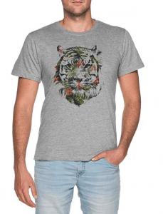 37467b0b8f Tropical Tigre Hombre Gris Camiseta Men Grey T-Shirt tee tigre tropical