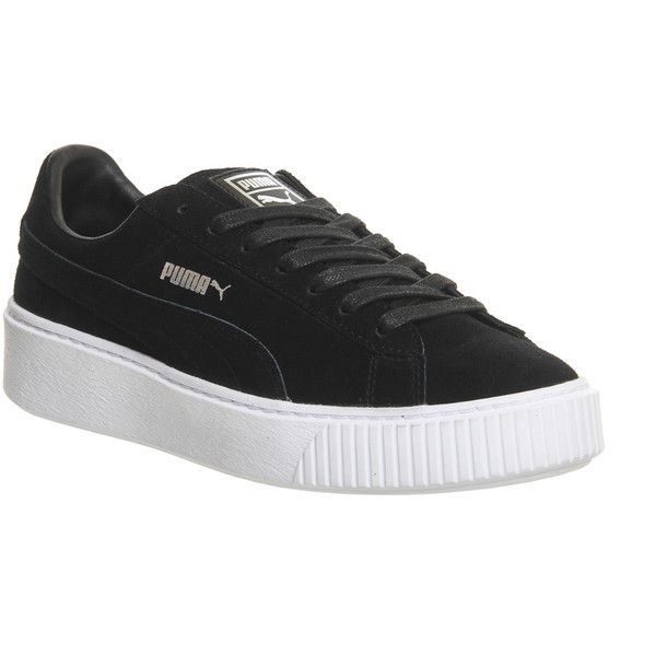 Puma Suede Platform ($97) ❤ liked on Polyvore featuring
