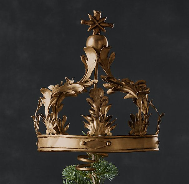 Crown Tree Topper Brass Tree Toppers Vintage Tree Toppers