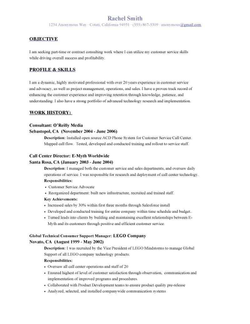 Resume Objective Examples Samples And Writing Throughout Career