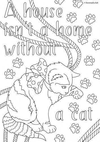 A House isn\'t a Home without a Cat - FREE printable inspiration ...
