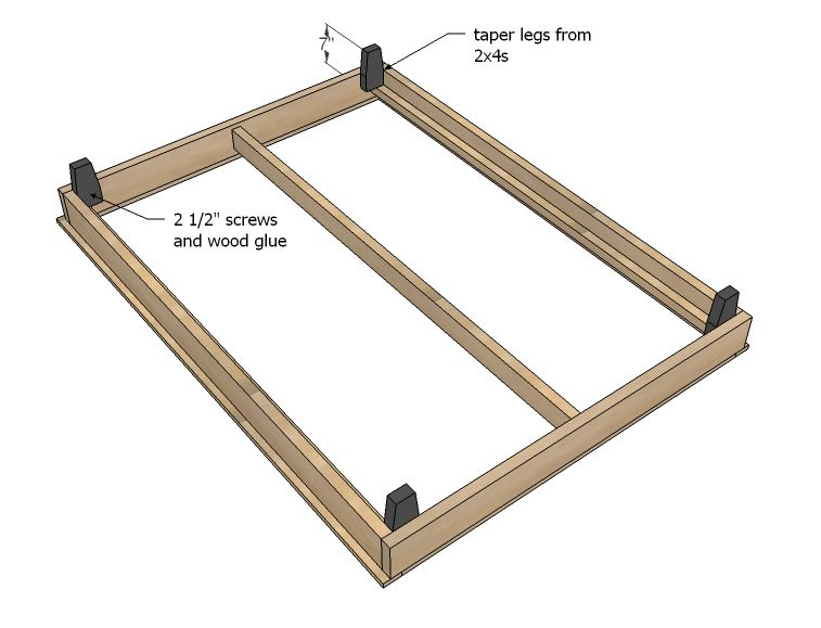 Hailey Platform Bed Frame Diy Bed Frame Diy Platform