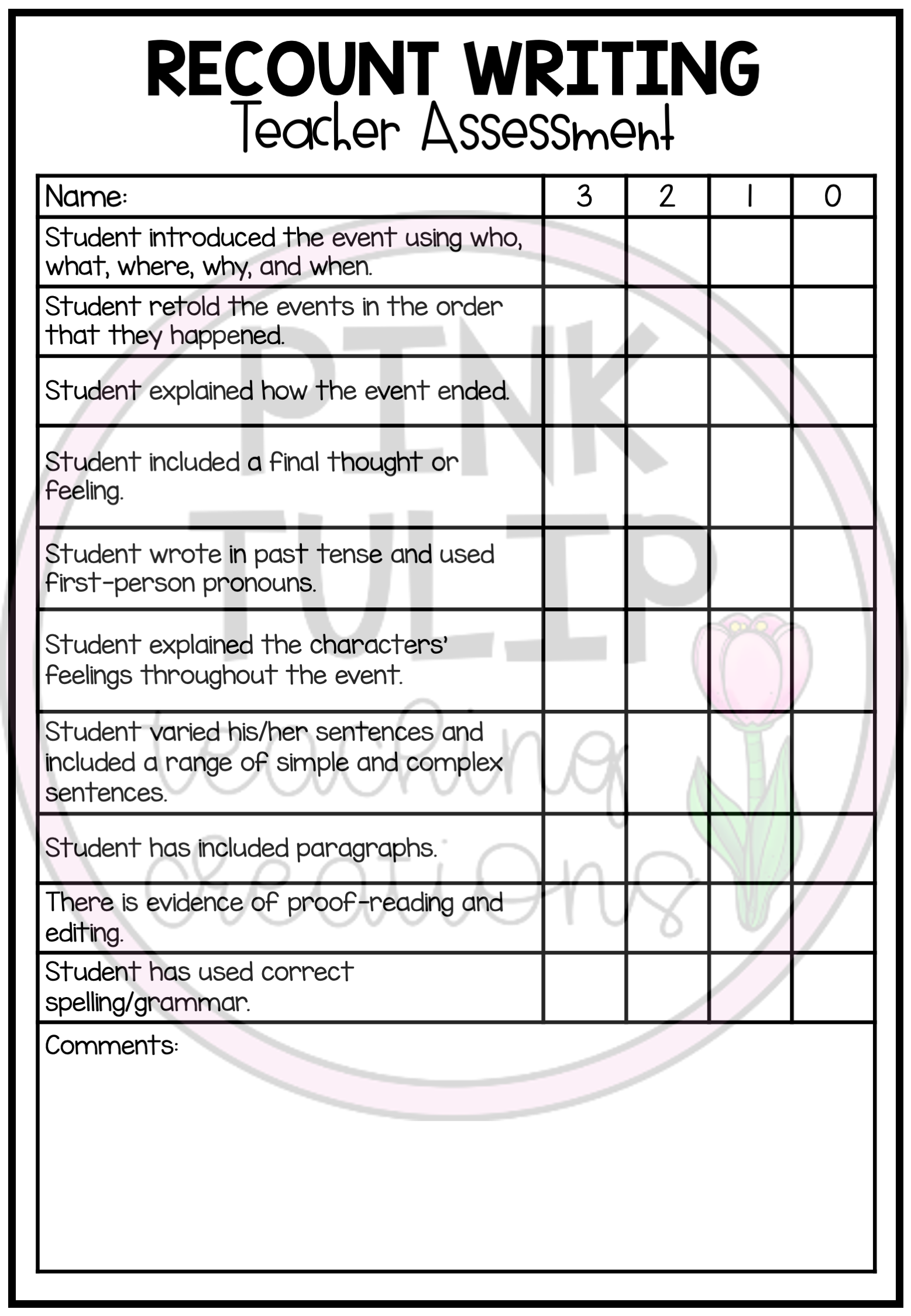Recount Text Writing Worksheet Pack Teacher Assessment Explanation Writing Writing Checklist Persuasive Writing [ 2249 x 1557 Pixel ]