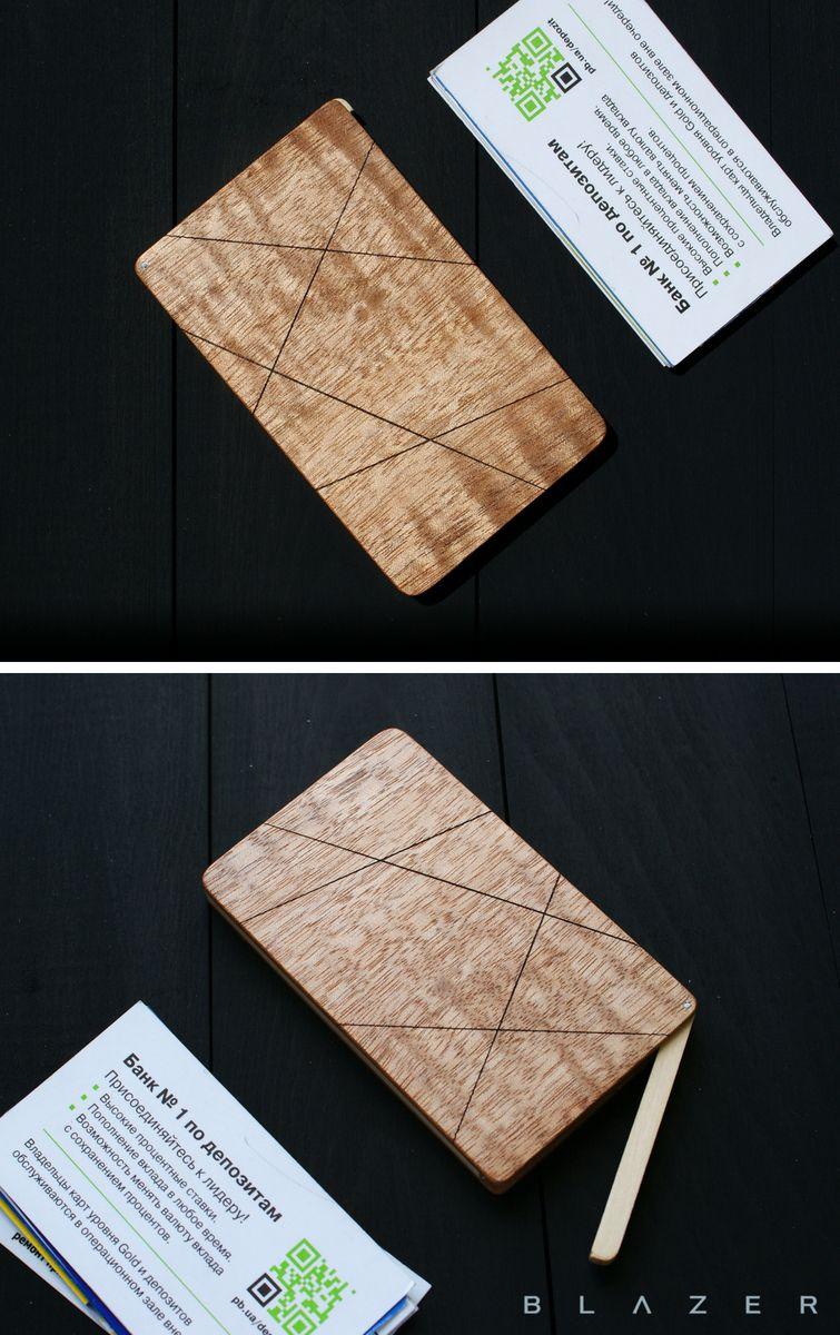 Business card case, business card holder, wood cardholder leather ...