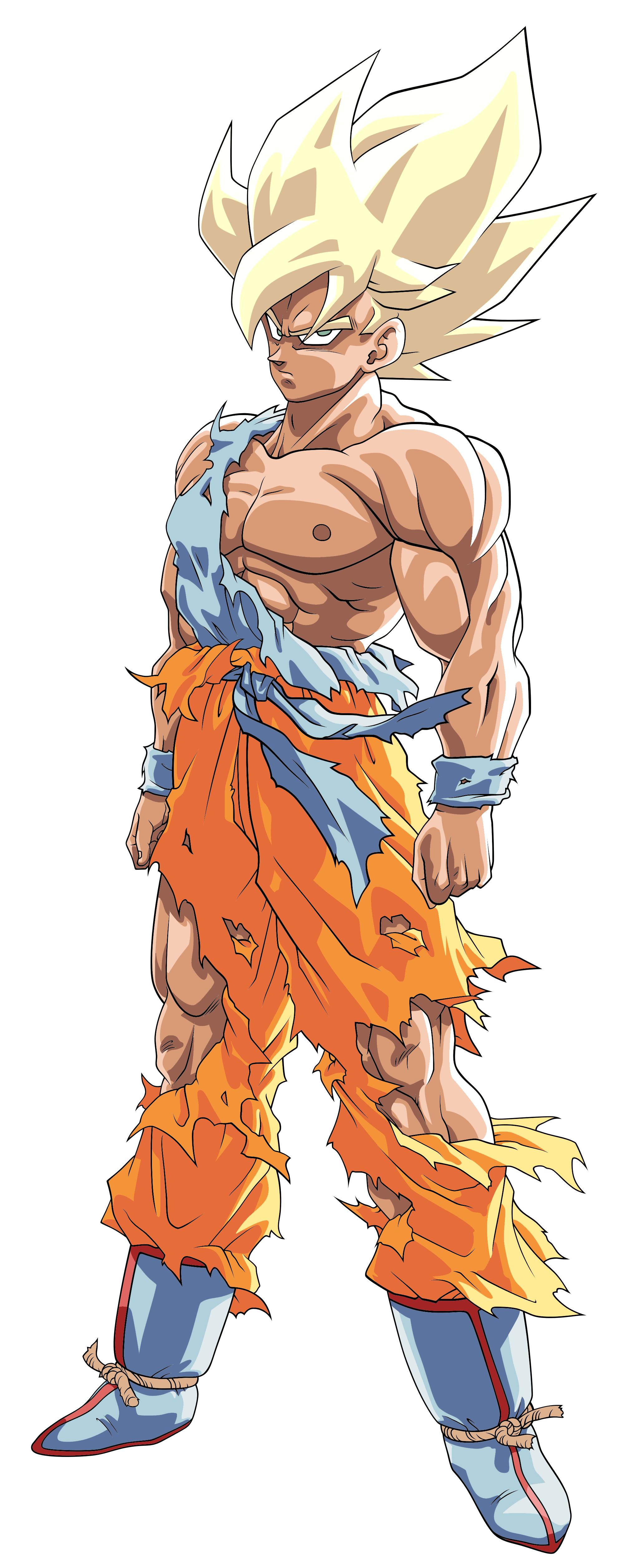 Goku Ssj Namek Ssj Toriyama Palette By Benj San Dbqzk0g Png 2048 5028 Personagens De Anime Anime Dragon Ball