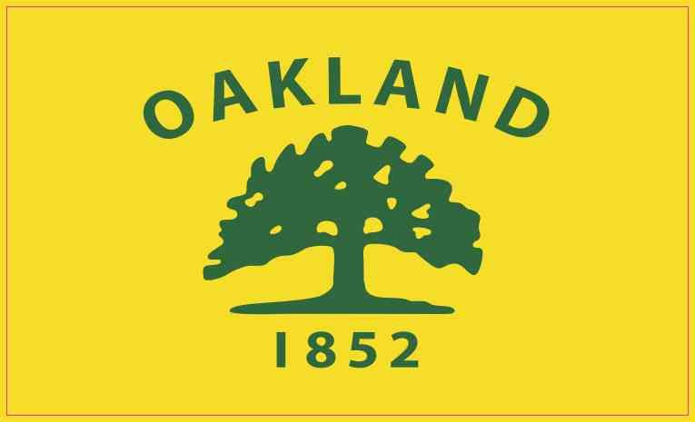 5in x 3in oakland california flag sticker