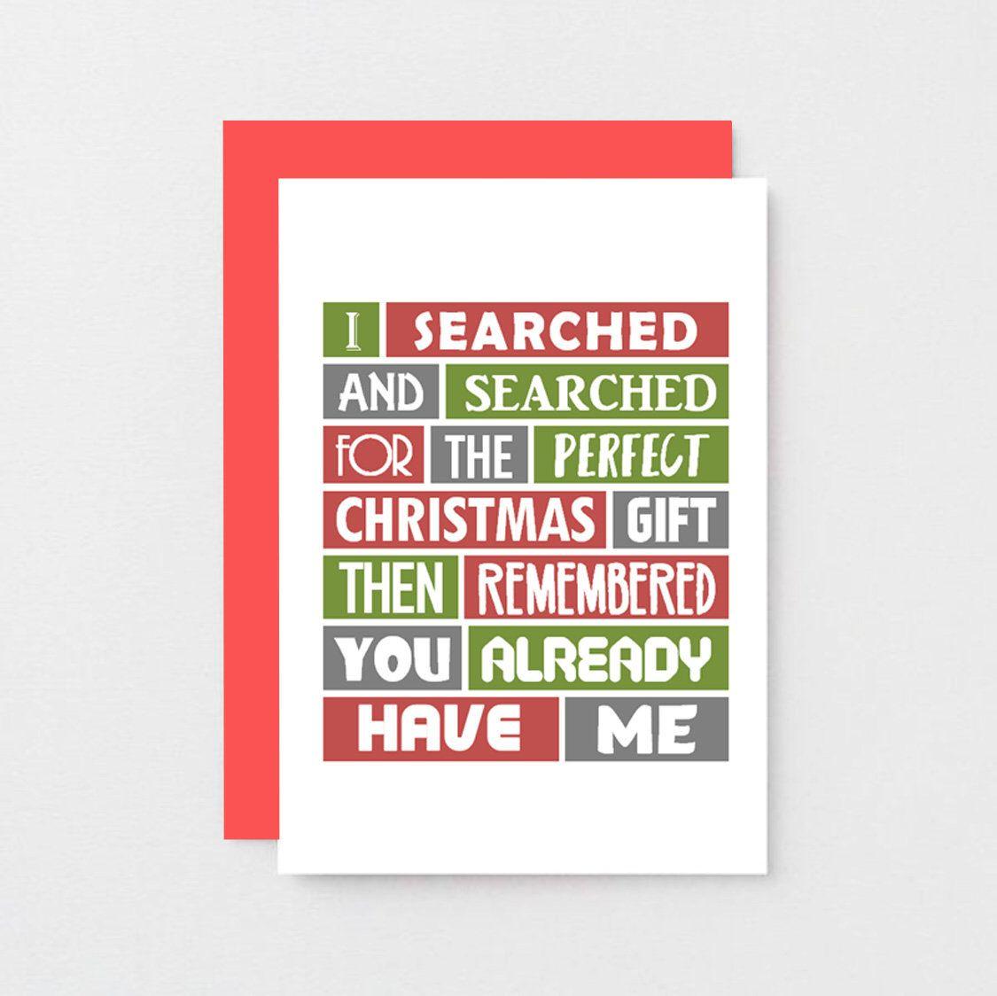 Funny Christmas Card For Wife Christmas Gift For Husband, Funny Dad ...